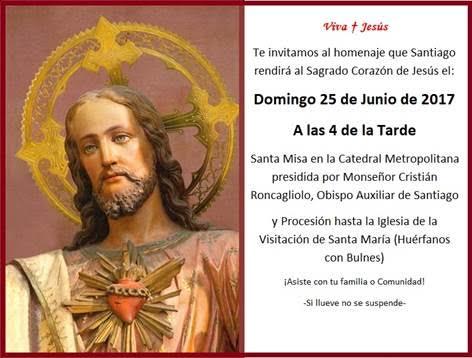 Invitación A La Procesión Del Sagrado Corazón De Jesús
